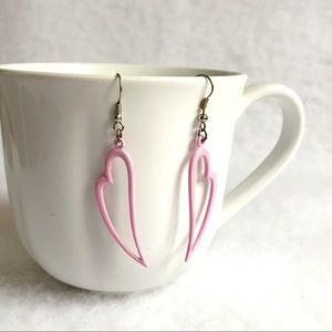 Jewelry - pink heart Silhouette dangle earring